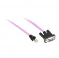 CANOPEN CABLE, 0,5M, SUB-D 9 FEMALE/RJ45